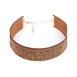 Жен. Ожерелья-бархатки Кристаллы Полиэфирно-льняная смешанная ткань Euramerican Мода Бижутерия НазначениеСвадьба День рождения Вечерние