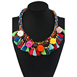 Women's Choker Necklaces Pendant Necklaces Statement Necklaces Geometric Mixed Materials Metal AlloyFlower Style Pendant Handmade