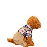 Собака Упряжки Одежда для собак На каждый день Сплошной цвет Темно-синий полоса Хаки