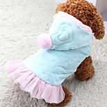 Собака Толстовки Платья Одежда для собак На каждый день Сердца Синий Розовый