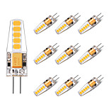 2W Luces LED de Doble Pin T 10 SMD 2835 250 lm Blanco Cálido Blanco V 10 piezas