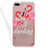 Для яблока iphone 7 7 плюс футляр для флип-макета с высокой проницаемостью акриловая задняя панель tpu рама окрашенная рельефная