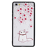 Чехол для huawei p8 lite p9 lite чехол для крышки кошка шаблон tpu plus pc combo материал рельефный чехол для телефона
