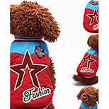 Собака Толстовка Одежда для собак На каждый день Английский Желтый Красный