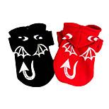 Собака Костюмы Плащи Одежда для собак Хэллоуин Ангел и черт Черный Красный