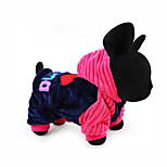 Собака Толстовки Комбинезоны Одежда для собак На каждый день Буквы и цифры Синий Розовый