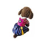 Собака Костюмы Одежда для собак Косплей Вышивка Красный Синий