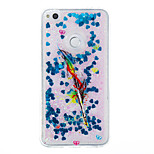For Huawei P9 Lite P8 Lite Case Cover Feathers Pattern Flash Powder Quicksand TPU Material Phone Case P8 Lite (2017)
