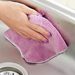 Thicker Wood Fiber Dishwasher Scouring Pad Color Random Kitchen Dishwashing Dispersed Wipes Non-Dip Brush