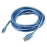 USB 2.0 Cable, USB 2.0 to Mini USB Cable Male - Male 5.0m(16Ft)