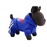 Собака Толстовки Одежда для собак На каждый день Животные Красный Синий