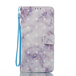 Til samsung galaxy s8 s8 plus case cover blå marmor mønster 3d malet kort stent tegnebog telefon kasse til galakse s7 s7 kant s6 s6 kant