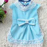 Собака Платья Одежда для собак На каждый день Принцесса Синий Розовый