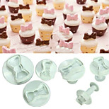 3 PCS Double Sugar Cake Tools Bow Plastic Spring Coining Die Biscuits Die
