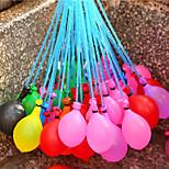 37 шт / комплект один воздушный шар заполненный ирригационной воды инъекции в праздник пляж игрушки для детей водные шары цвет случайные