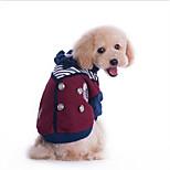 Собака Плащи Одежда для собак На каждый день Английский Серый Красный