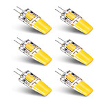 6PCS BRELONG G4 1*COB 2.5W 230-250LM Warm/Cool White AC/DC 10-16V Waterproof LED Bi-pin Lights