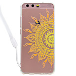 Case For Huawei P10 Lite P10 Mandala Pattern Acrylic Backplane and TPU Edge Materia Neck Lanyard P9 Lite P8 Lite 2017 P8 Lite