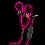 JieFangZhe Q10 Glowing In The Dark Earphones Shiny and Bright Version  with MIC  Sport Run Jog