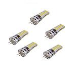 3W Двухштырьковые LED лампы T 12 SMD 5730 250-350 lm Тёплый белый Холодный белый V 5 шт.