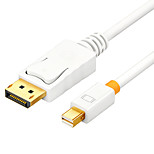 DisplayPort Кабель-переходник, DisplayPort to Mini Displayport Кабель-переходник Male - Male Позолоченная медь 1.5M (5Ft)