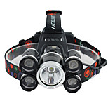 Налобные фонари Ремешок для налобного фонаря огни безопасности LED 3000 Люмен 1 Режим Cree XM-L T6 Батарейки не входят в комплект Угловой