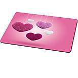 Ajazz в форме сердца коврик для мыши милый стиль резиновая ткань 21cm * 26cm * 0.3cm