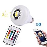 12W Inteligentne żarówki LED 28 SMD 1000 lm RGB Bluetooth Przysłonięcia Zdalnie sterowana Dekoracyjna AC100-240 V 1 sztuka