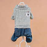 Dog Clothes/Jumpsuit Dog Clothes Casual/Daily Cowboy Letter & Number Blushing Pink Green