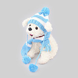 Dog Bandanas & Hats Dog Clothes Casual/Daily Keep Warm Stripe Blushing Pink Blue