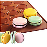 Delidge 1pc 30 Holes Round Macarons Mat Silicone Cake Mold Mat DIY Pastry Cake Pad Baking Mat Nonstick Pastry Mats