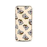 Taske til iphone 7 plus 7 cover gennemsigtigt mønster bagcover case flise tegneserie koala soft tpu til apple iphone 6s plus 6 plus 6s 6
