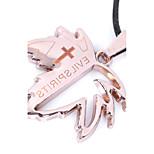 Муж. Ожерелья с подвесками Заявление ожерелья Геометрической формы Нержавеющая сталь Титановая стальУникальный дизайн В виде подвески