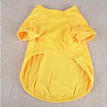 Собака Футболка Одежда для собак На каждый день Сплошной цвет Желтый Красный Зеленый Синий Розовый