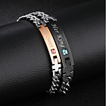 Муж. Жен. Браслет цельное кольцо Мода Rock Готика Нержавеющая сталь Круглой формы Бижутерия Назначение Для вечеринок День рождения