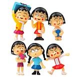 6pcs мешок / телефон / keychain шарм diy мультфильм игрушка pvc аниме