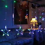 10m 60led rgb рождественские огни звездные огни праздничные свадебные торжества украшения занавески огни строки огни 220v