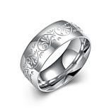 Муж. Кольцо Бижутерия Цветочный дизайн Нержавеющая сталь Круглый Бижутерия Назначение Свадьба Для вечеринок Офис / Карьера На каждый день