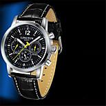 Муж. Механические часы С автоподзаводом Защита от влаги Фосфоресцирующий Натуральная кожа Группа Черный Коричневый