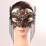 Черная маска сексуальная кружева Хэллоуин вечеринка модные кружева женская кисточка хрустальная маска женское бельё кружево маска