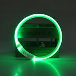 Ошейники Перезаряжаемый LED подсветка Безопасность Однотонный