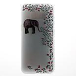 Θήκη για το Samsung Galaxy s8 s8 plus κάλυψη περίπτωσης ελέφαντα μοτίβο 3d ανακούφιση γάλα tpu υλικό θήκη τηλέφωνο για γαλαξία s7 s7 άκρη