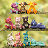 11pcs мешок / телефон / брелок шарм животное rhinestone стиль мультфильм игрушка pvc crystal