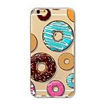 Чехол для iphone 7 плюс 7 обложка прозрачный узор задняя крышка чехол для еды пончик мягкий tpu для яблока iphone 6s плюс 6 плюс 6s 6 se