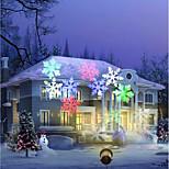 youoklight 12w rgbw праздник украшения водонепроницаемый снежинка проектор лампа us / eu штекер ac100-240v 1шт