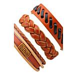 Муж. Кожаные браслеты Rock Multi-Wear способы Кожа Крутящийся твист Бижутерия Назначение Для сцены Для клуба
