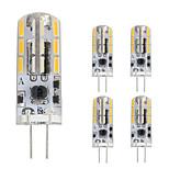 1.5W Двухштырьковые LED лампы T 24 SMD 4014 120 lm Тёплый белый Холодный белый V 5 шт. G4