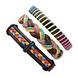 Муж. Жен. Кожаные браслеты Хип-хоп Multi-Wear способы Кожа В форме линии Бижутерия Назначение Для сцены Для улицы