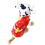 Кошка Собака Банданы и шляпы Одежда для собак Сохраняет тепло Животные Белый/Черный