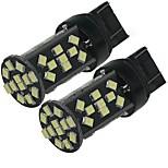 2шт высокая мощность белый 5w t20 7443 w21w 48smd 2835 чипов 500lm светодиодная лампа резервная обратная лампа dc12v